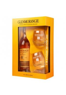 Виски GLENMORANGIE 10 лет + 2 стакана, 0,7л